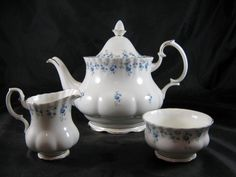 Royal Albert Memory Lane Large Teapot with Cream & Sugar