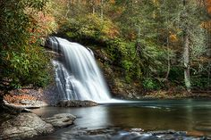 Waterfall in Cashiers, NC.