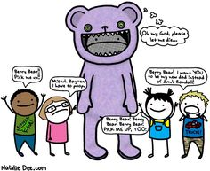 Comic by Natalie Dee: the ballad of berry bear