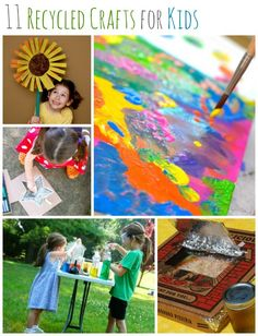 11 Recycled Crafts for Kids -- perfect for celebrating Earth Day