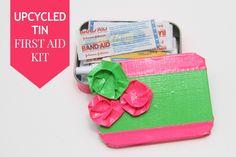 Upcycled Altoid Tin First Aid kit