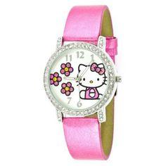 Cute Watch! HK & Pink Daisies ♥