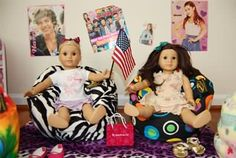 small bean bags to use with American Girl dolls