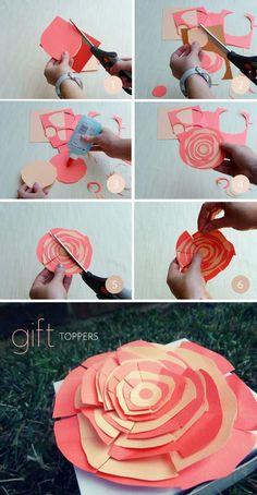 DIY: gift topper flowers