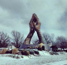 Praying Hands at Oral Roberts University, Tulsa, OK