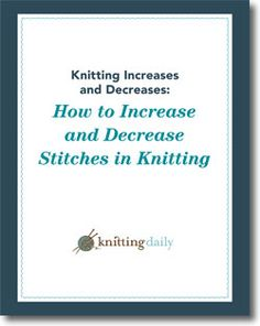 How To Increase Stitches When Knitting In The Round : Craft Books on Pinterest 28 Pins