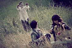 Hahahaha. Love these engagement photos. Looks like they will never get to produce a Zombie snack.