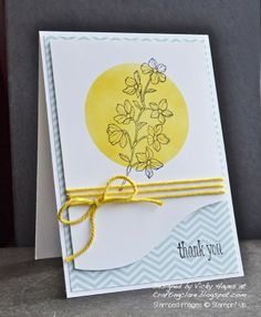 Stampin' Up ideas and supplies from Vicky at Crafting Clare's Paper Moments: Peaceful Petals with a retro spin