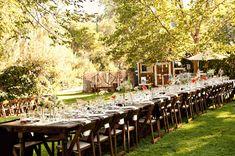 receptions, vintage, mini arrang, outdoor long table reception, blog, reception tables