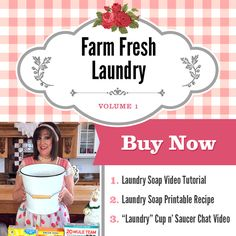 Here's the first in my NEW HOMEMAKING VIDEO SERIES! I'm so excited to welcome you into my home! If you've been wanting to bring the joy and smell of Farm Fresh Laundry into your own home, I am going show you how wonderfully easy it is in this first volume of my Sweet Home Revival Video Set!