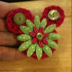 Mickey Mouse Crochet Hair Clip