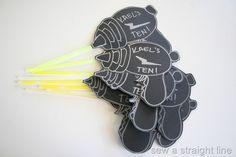 laser tag party- DIY