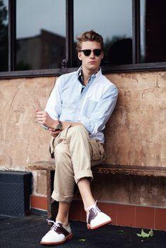 Oxford shirt, khakis
