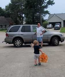 My cargo is precious ..I have proved my worth  for all the extra cash like  my tires must be the  best and I do require a little more gas..  for I transport my Silly Goose to feed the ducks,  mom to work she has to go, bubba to baseball for that is his  his call,then sissy to cheer are we will all be in tears.  When time & funds we have I take them all to the beach  and if you pick me for tires  I will be able to give them that treat !