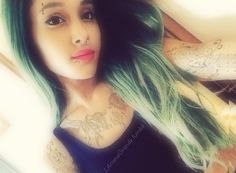 Ariana Grande Tattoos (without the nose ring it would look better)