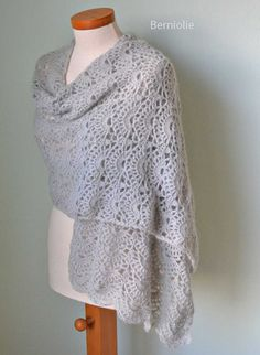 SILVER Crochet shawl pattern PDF by BernioliesDesigns on Etsy