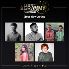 Congratulations to Best New Artist nominees; Kendrick Lamar, Ed Sheeran, James Blake, Kacey Musgraves, Macklemore & Ryan Lewis