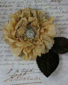 Vintage Sewing Pattern Tissue Flowers