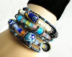 Helter Skelter Utterly Beautiful Wrap Cuff by LyndaHayesDesigns,  SOLD