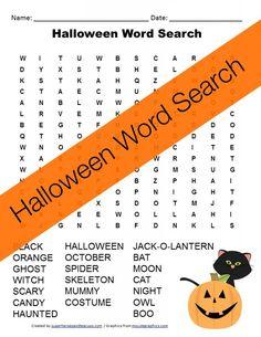 Free Printable - Halloween Word Search