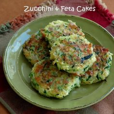zucchini cakes, red onion