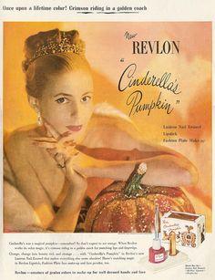 Ooh, pumpkin make up! 1950's