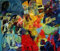 Joseph M. Jahn  green tears, green bird  100X120CM  Oil On Canvas