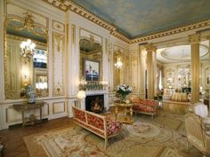 Rediculously opulent salon in a 1903 New York penthouse. Owned by none other than Joan Rivers!