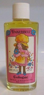 70's stuff, tinkerbell perfume, 80s perfume, tinkerbel perfum
