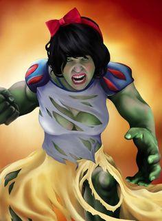 Snow White as the Hulk.