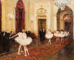 Le foyer de l'opéra by Jules René Hervé