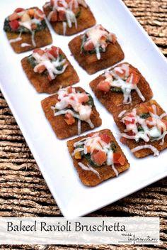Baked Ravioli Brusch