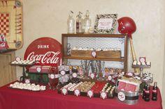 Coke themed dessert table