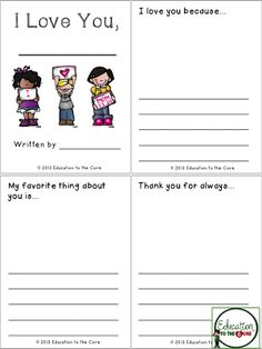 classroom idea, teacher notebook, popup bookcard, mini books, core, mothers day writing activities, kid stuff, education, father