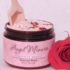 Sensual Rose  luxury silk bath: very nourishing and moisturizing for the body