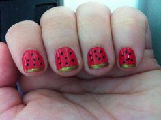 watermelon nails :)