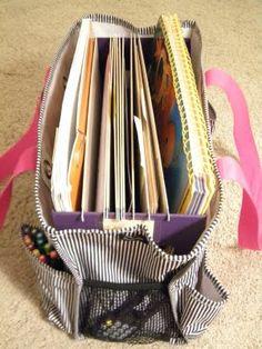 File folder inside the bag! So smart.