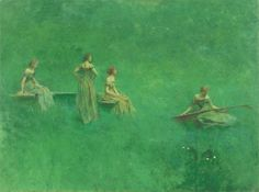 """Thomas Wilmer Dewing, """"The Lute"""" (1904)"""