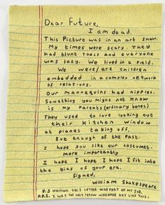 Simon Evans | Letter to the Future, 2011, hand-stitched embroidery