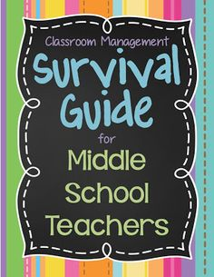 I'm Lovin Lit: NEW Middle School Teacher's SURVIVAL GUIDE, Part 1 - Get ready for your new school year!  Blog post with classroom management tips for middle school teachers.
