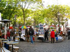 Montmarte Art Market, Paris, France Favorite spot -