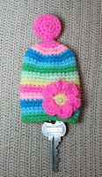 Amigurumi Flower Key cozy