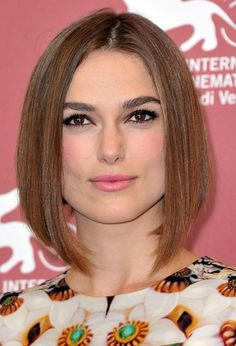 Keira Knightley Long Sleek Bob Hair Style