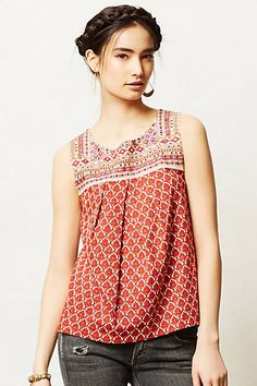 Embroidered tank. Cuteness.