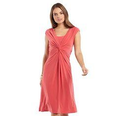 Chaps Twist-Front Mock-Layer Dress