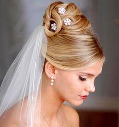 Modelos de penteados coques para noivas
