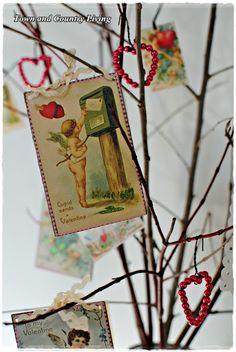 Vintage Valentine tree