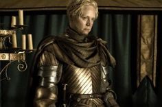 "Brienne of Tarth: flawed, overly trusting, ""homely"", stubborn, skilled, relentless, brave, dedicated, fierce, a woman of her word."