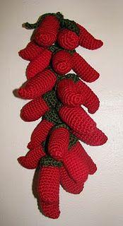 free, chili pepper garland amigurumi pattern