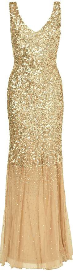 gold party dress - #gold #bling - yes, you can wear this as a wedding dress